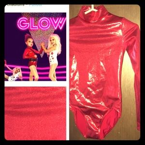 GLOW red leotard